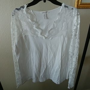 NWOT white Lace top size 3X